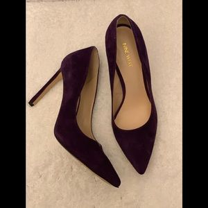 Purple Suede Nine West Pumps